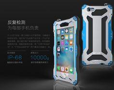 R-Just Gundam IP68 2M Waterproof Shockproof Dirtproof Snowproof Gorilla Glass Screen Silicone Patent-Pending Aluminum Alloy Metal Case for Apple iPhone 6S/ iPhone 6S Plus