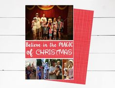 Believe in the Magic of Christmas Card, Disney Christmas Photo Card, Holiday Photo Card, Mickey Christmas Card, Photo Card, DIY or Printed by NOLALOULOU on Etsy