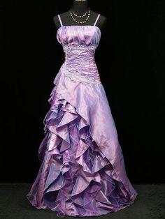 Cherlone Satin Purple Lace Long Prom Ball Gown Wedding/Evening Dress Size 16-18 | eBay