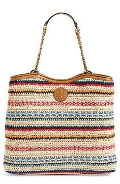 Tory Burch 'Marion' Woven Tote available at #Nordstrom