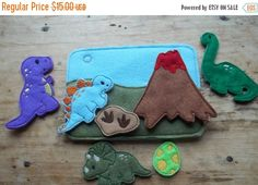 EARLY SPRING SALE Dinosaur Quiet Busy Book by Rags2richescrafts