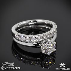 Vatche Engagement Ring and Verragio Wedding Ring.