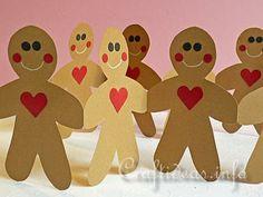 Gingerbread Man Paper Garland