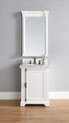 "Providence 26"" White Single Bathroom Vanity Soft-Close Doors"