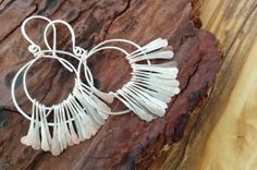 Moonlight Hammered Silver Fringe Earring by SweetMintBoutique, $34.00