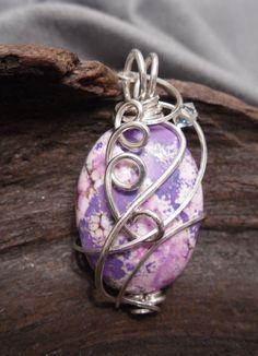 Painted Ladies Wire Wrap jewelry (Zordel 0913)