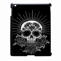 Black Sugar Skull iPad 4 Case