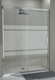 Frosted Shower Doors, Tub Shower Doors, Shower Enclosure, Glass Bathroom, Laundry In Bathroom, Small Bathroom, Glass Partition Designs, Frosted Glass Design, Toilet Design