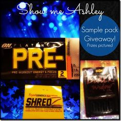 A Giveaway! Mr Olympia samples on my blog . Yay giveaway :)