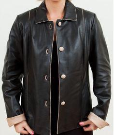 women Black Leather blazer women leather by customdesignmaster, $159.99