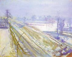 """Stanisław Wyspiański """"Widok z okna pracowni na Kopiec Kościuszki"""", 1904"""