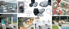 Ego hexagonal outdoor furniture