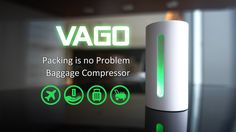 VAGO can compress the soft stuffs automatically and get extra space for luggage. All you have to do is plug-in and power on.