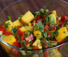 Mango Salsa is wonderful and so easy to make.It's great with tortilla chips.