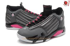 AIR JORDAN 14 RETRO Grey/Pink Sneakers