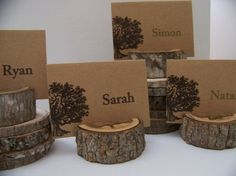 Items similar to Rustic Wood Tree Place Card Holders 50 on Etsy Wedding Table, Rustic Wedding, Wedding Ideas, Wedding Card, Trendy Wedding, Diy Wedding, Woodland Wedding, Autumn Wedding, Woodland Theme