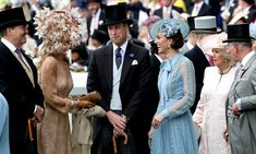 - Photo - The Queen helped open Royal Ascot this year, joined by members of her family including Prince Charles and Camilla, and Prince William and Kate – see the best photos Princess Eugenie, Princess Anne, Duchess Of Cornwall, Duchess Of Cambridge, Windsor, Order Of The Garter, Prince Charles And Camilla, Royal Look, Duke And Duchess