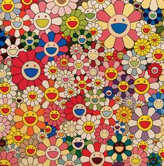 Flower Smile. by MURAKAMI, Takashi. Edition of 300. Signed and numbered in pen lower right by Murakami.