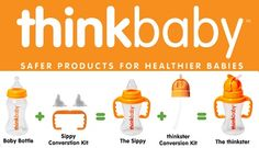 Many conventional #baby products are made with chemicals that have the potential to cause endocrine disruption, cancer, and reproductive harm. Thinkbaby offers a complete BPA-free feeding set to ensure the safety of your babies. #childhealth