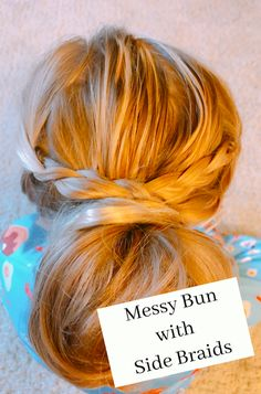 Messy Bun with Side