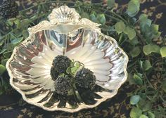 Clam Shell Candy Dish  Silver Plate Bonbon Dish  by PearlsParlor, $9.75