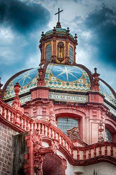 Church of Santa Prisca y San Sebastian, Taxco,  Guerrero, Mexico by José Manuel Cajigal