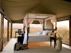 Extraordinary safari hotel room at the Wolwedans Dunes Lodge in Namibia, Africa. Open air for a romantic destination honeymoon with your own ultra luxury safari tent on the African plains. Kenia Hotel, Namibia Africa, Destinations, Luxury Tents, Luxury Lodges, Camping Glamping, Camping Trailers, Glam Camping, Camping Stove