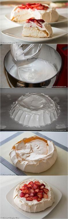 Airy, light and absolutely divine dessert that you will be making over and over again. INTERESTING...GOOD IDEA