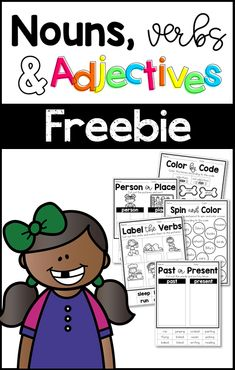 Nouns Verbs And Adjectives Freebie Free Parts Of Speech Nouns Verbs And Adjectives Worksheets Nouns And Verbs Worksheets, Parts Of Speech Worksheets, Parts Of Speech Activities, Part Of Speech Noun, Adjectives Activities, Adjective Worksheet, Nouns And Adjectives, Grammar Activities, Writing Activities