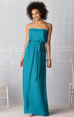 Dropped A-line Floor-length Zipper Chiffon #Bridesmaid Dresses