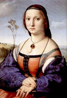 Portrait of Maddalena Doni by Raphael Sanzio, 1506  Art Experience NYC  www.artexperiencenyc.com