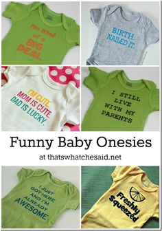 Sewing Baby Gift Funny Saying Onesies Adorable Baby Gifts, Baby Shower, New Baby Presents - Newborn Onesies, Newborn Gifts, Baby Onesie, Hipp Baby, Cute Onesies, Funny Babies, Funny Baby Clothes, Future Baby, Baby Love