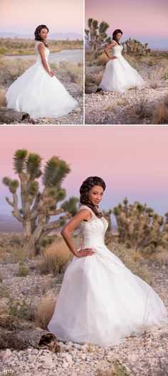 Sunset Desert Wedding Photography at Las Vegas Paiute Golf Resort | KMH Photography, Las Vegas Wedding + Portrait Photographer