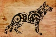 German Shepherd Tattoo
