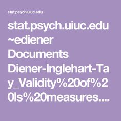stat.psych.uiuc.edu ~ediener Documents Diener-Inglehart-Tay_Validity%20of%20ls%20measures.pdf