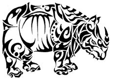 Image detail for -tribal rhino by ~roxyloxy on deviantART