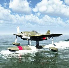 Japanese sea plane kawanishi N1K kyofu