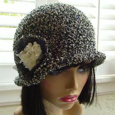 Cute hat/cloche hat women/crochet hat/hat by stitchwhimsymarket