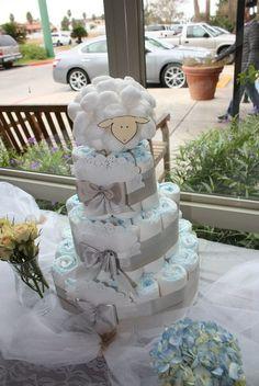 beautiful baby shower diaper cake!