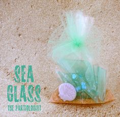 How about this for a unique mermaid party favor: homemade sea glass candy! Yes – this is edible sea glass. Kim of The Partiologist is the creative talent who came up with this idea. She made a simple hard candy, colored it . Mermaid Party Favors, Candy Party Favors, Under The Sea Theme, Under The Sea Party, Sea Glass Wedding, Little Mermaid Parties, Glass Candy, Mermaid Birthday, Dreamcatchers