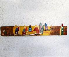 wall hanger Little Town Magnetic Knife Strip, Wall Hanger, Handicraft, Objects, Handmade, Craft, Hand Made, Gift Crafts, Crafts