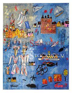 Madeleine Pyk - Litografi – Österlen II Den blå filen Beställ här! Klicka på bilden.