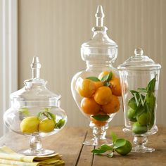 A perfect decoration basic.They can be incorporated into just about every room,depending on what you put inside. In the kitchen they can become seasonal and festive too!