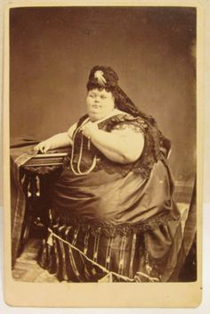 Amazing 1880s Cabinet Photo of Circus Fat Lady | eBay