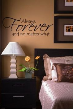 Amazon.com: Always Forever And No Matter What wall sayings vinyl lettering home art decor: Home Improvement