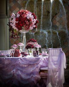 purple table settings for a princess!