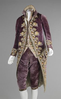 French Court Suit, 1810.