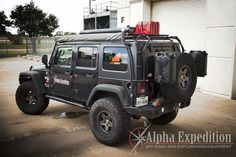 You‰Ûªll be able to carry everything you need for your next adventure with the Gobi Stealth roof rack available at Alpha Expedition. Order your gear today! Jeep Jku, Jeep Wrangler Rubicon, Jeep Wrangler Unlimited, Wrangler Accessories, Jeep Accessories, 4x4, Jeep Camping, Jeep Mods, Custom Jeep