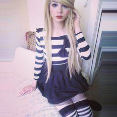alexjurassicc:  #crossdresser #femboy #shemale #wig #blonde #blondie #tranny #trans #transexual #scene #tgirl #androgyny
