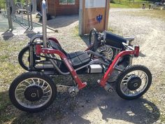 """""""Free to Caster (FTC) leaning reverse trike - Page 7 Three Wheel Bicycle, Powered Wheelchair, Go Car, Pedal Cars, Bike Frame, Bike Design, Electric Cars, Electric Vehicle, Tony Stark"""